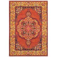 "Oriental Weavers Bohemian 3'10"" x 5'5"" Area Rug in Orange"