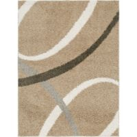"""Home Dynamix Synergy by Nicole Miller Abstract 7'9"""" x 10'2"""" Area Rug in Beige/White"""