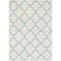 "Home Dynamix Synergy by Nicole Miller Trellis 3'3"" x 4'3"" Accent Rug in White/Aqua"