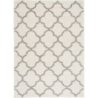 """Home Dynamix Synergy by Nicole Miller Trellis 3'3"""" x 4'3"""" Accent Rug in White/Grey"""