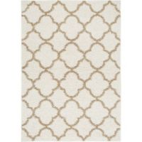 "Home Dynamix Synergy by Nicole Miller Trellis 3'3"" x 4'3"" Accent Rug in White/Beige"