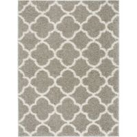 "Home Dynamix Synergy by Nicole Miller Trellis 3'3"" x 4'3"" Accent Rug in Grey/White"