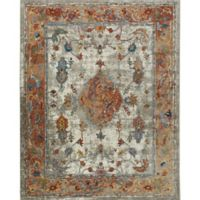 "Parlin by Nicole Miller Border 2'7"" x 3'11"" Accent Rug in Ivory/Rust"