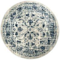 "Home Dynamix Vintage Ivy 5'3"" Round Area Rug in Grey/Blue"