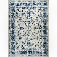 "Home Dynamix Vintage Ivy 5'3"" Square Area Rug in Grey/Blue"
