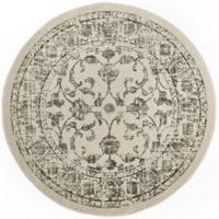 "Home Dynamix Vintage Ivy 6'6"" Round Area Rug in Ivory/Grey"