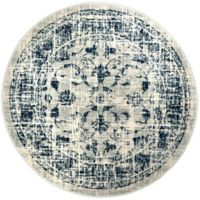 "Home Dynamix Vintage Ivy 6'6"" Round Area Rug in Grey/Blue"