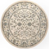 """Home Dynamix Vintage Border 6'6"""" Round Area Rug in Ivory"""
