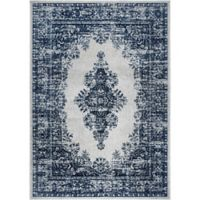 "Home Dynamix Vintage Distressed 2'2"" x 6'11"" Runner in Grey/Blue"