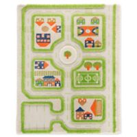 "IVI Traffic 2'7"" x 3'8"" 3-Dimensional Play Rug in Green"
