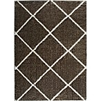 Home Dynamix Radiant Trellis 8' x 10'2 Shag Area Rug in Grey/Ivory