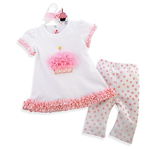 Mud Pie™ Little Cupcake Size 0-6 Months Tunic & Leggings Set