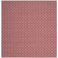 Safavieh Montauk 6' x 6' Ashley Rug in Red