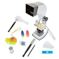Hey! Play! 18-Piece Kids Microscope Set
