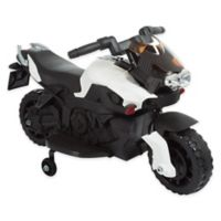 Lil' Rider Battery-Operated Ride-On 2-Wheel Motorcycle with Training Wheels in White