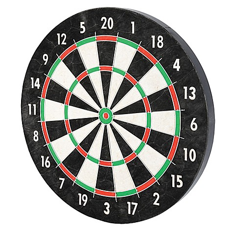 image of Franklin® Sports 18-Inch Pro Wire Bristle Dartboard in Black/White