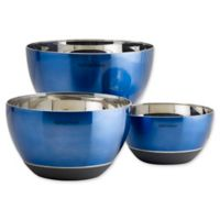 Epicurious 3-Piece Mixing Bowl Set in Arctic Blue
