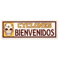Iowa State University Cyclones Bienvenidos Outdoor Step Graphic Decal