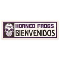 Texas Christian University Horned Frogs Bienvenidos Outdoor Step Graphic Decal