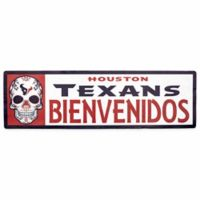 NFL Houston Texans Bienvenidos Outdoor Step Graphic Decal