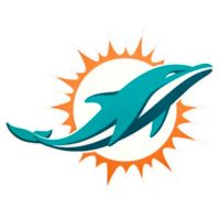 NFL Miami Dolphins Small Decal