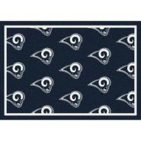 NFL Los Angeles Rams Repeating Large Area Rug