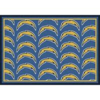 NFL San Diego Chargers Repeating Large Area Rug