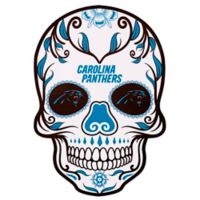 NFL Carolina Panthers Outdoor Dia De Los Muertos Skull Decal