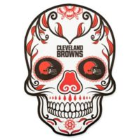 NFL Cleveland Browns Outdoor Dia De Los Muertos Skull Decal