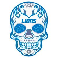 NFL Detroit Lions Outdoor Dia De Los Muertos Skull Decal