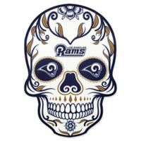 NFL Los Angeles Rams Outdoor Dia De Los Muertos Skull Decal