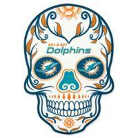 NFL Miami Dolphins Outdoor Dia De Los Muertos Skull Decal