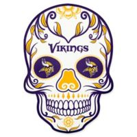 NFL Minnesota Vikings Outdoor Dia De Los Muertos Skull Decal