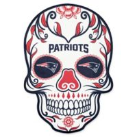 NFL New England Patriots Outdoor Dia De Los Muertos Skull Decal