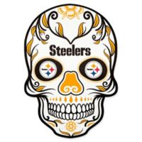 NFL Pittsburgh Steelers Outdoor Dia De Los Muertos Skull Decal