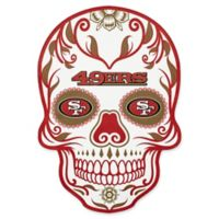 NFL San Francisco 49ers Outdoor Dia De Los Muertos Skull Decal
