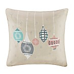 Madison Park Ornament Treasures Square Throw Pillow in Ivory