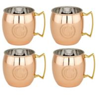 "Old Dutch International Solid Copper Monogram Block Letter ""G"" Moscow Mule Mugs (Set of 4)"