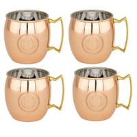 "Old Dutch International Solid Copper Monogram Block Letter ""O"" Moscow Mule Mugs (Set of 4)"