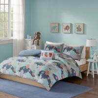 INK+IVY Luna Twin Duvet Cover Set in Navy
