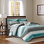 Madison Park Essentials Saben 9-Piece Queen Comforter Set in Aqua
