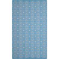 Safavieh Montauk 4' x 6' Garland Rug in Blue