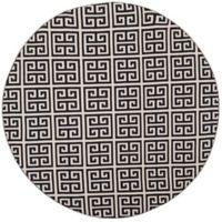 Safavieh Montauk 6' x 6' Garland Rug in Black