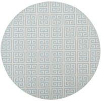 Safavieh Montauk 6' x 6' Garland Rug in Light Blue