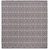 Safavieh Montauk 6' x 6' Garland Rug in Dark Grey