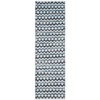 "Safavieh Montauk 2'3"" x 12' River Rug in Ivory Blue"