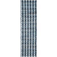 """Safavieh Montauk 2'3"""" x 6' Savoy Rug in Ivory Blue"""