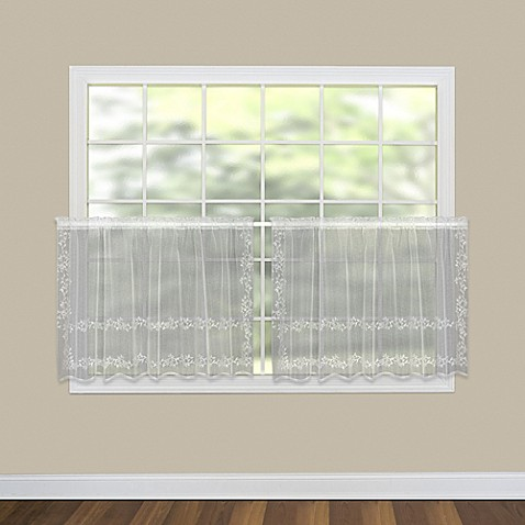 Heritage Lace Sheer Divine Kitchen Curtain Tier Pair Bed Bath Beyond