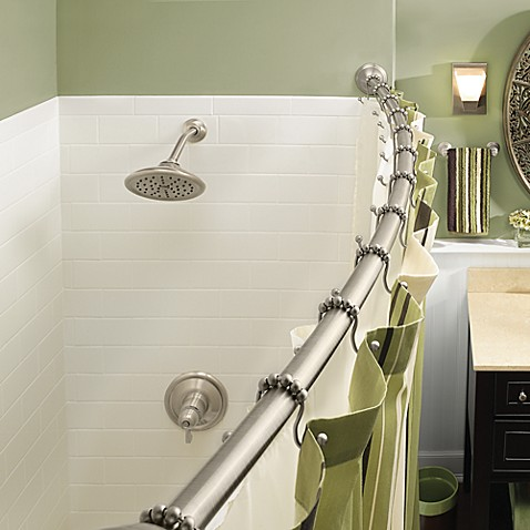 moen rod high height rods hang curtain shower the installation to how curved