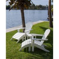 POLYWOOD® South Beach 5-Piece Adirondack Set in White